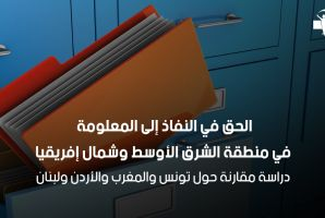 الحق في النفاذ إلى المعلومة في منطقة الشرق الأوسط وشمال إفريقيا