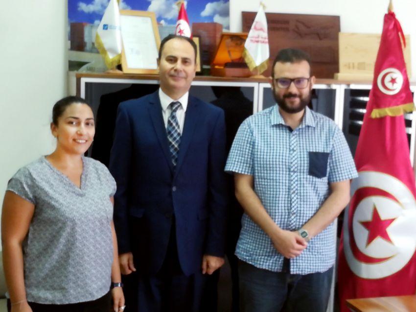 وفد أنا يقظ مع السيد عماد المهيري المدير العام للخطوط التونسية الفنية